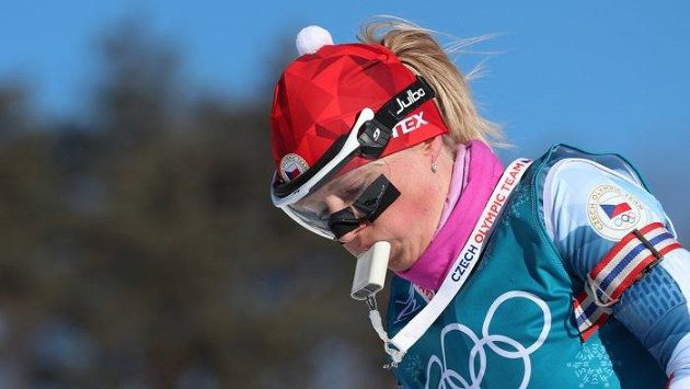 Eva Puskarčíková používá na tréninku speciální dýchátko.