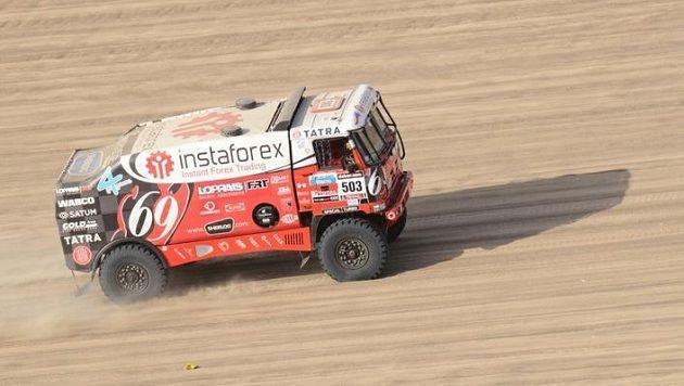 Aleš Loprais během Rallye Dakar 2013