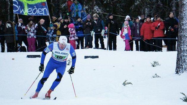 Lukáš Bauer při závodu SP v Gällivare.