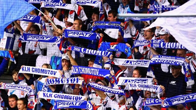 Fanoušci hokejistů Chomutova