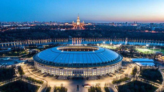Stadión v moskevských Lužnikách, který hostí fotbalové MS