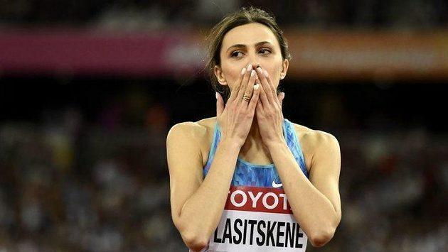 Hvězdná výškařka Maria Lasickeneová.