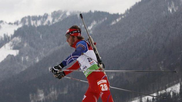 Biatlonista Jaroslav Soukup na mistrovství světa v Ruhpoldingu