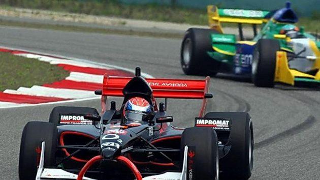 Pilot českého týmu A1 Grand Prix Filip Salaquarda při závodu v Šanghaji.