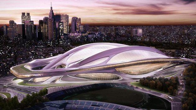 Vizualizace futuristického stadiónu v japonském Tokiu.
