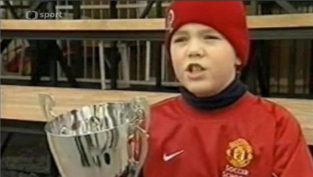 Ondřej Karafiát si jako 11letý dojel pro trofej až na Old Trafford...