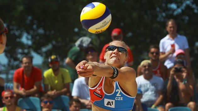 Michala Kvapilová v akci.
