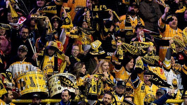 Fanoušci Litvínova se radují z branky - ilustrační foto.