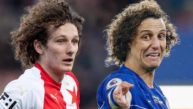 Kudrnáči Alex Král a David Luiz. Podoba účesu čistě náhodná...?