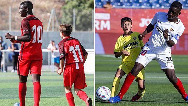 Fotbalista týmu Sevilla FC U12 Ibrahima Sow vzrůstem výrazně převyšuje své vrstevníky.