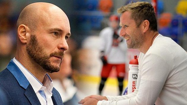 Tomáš Vlasák (vlevo) a Jaroslav Bednář komentují během mistrovství světa pro Sport.cz výkony české reprezentace.