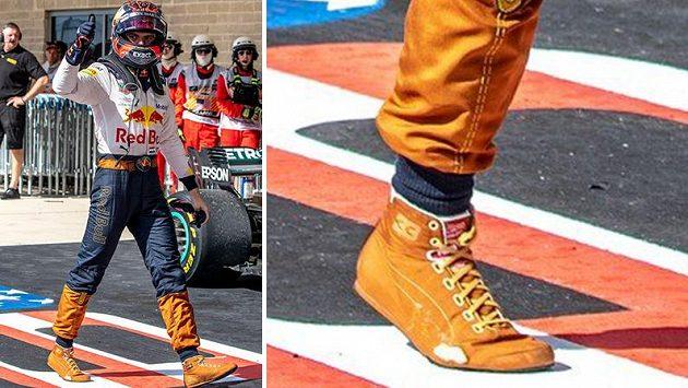 Max Verstappen během Velké ceny USA prošoupal botu.