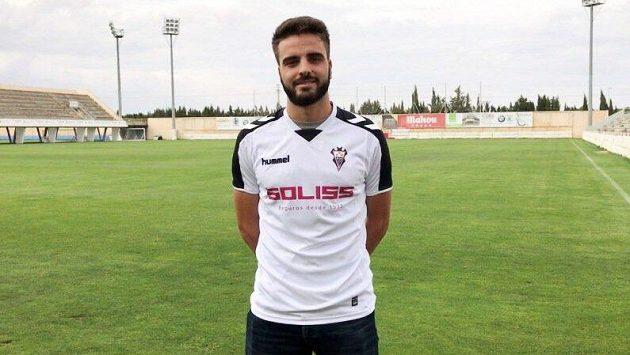 Fotbalista Albacete Pelayo Novo.