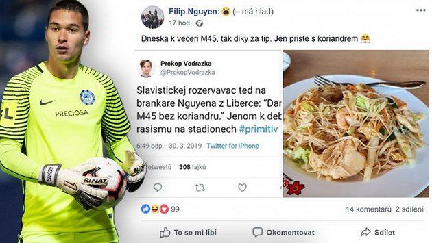 Filip Nguyen vzal urážky od slávistických fanoušků s nadhledem.