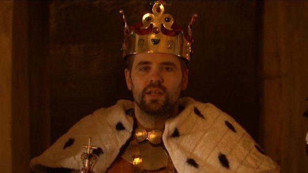 Ústecký král Klobouček na trůnu