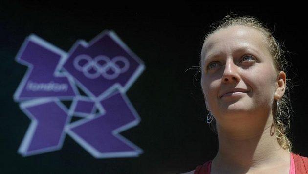 Petra Kvitová při tréninku na olympijský turnaj ve Wimbledonu