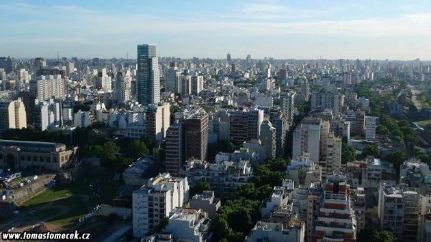 Pohled na argentinské město Buenos Aires