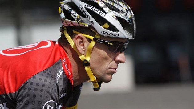 Lance Armstrong při pátečním tréninku v Rotterdamu.