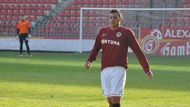 Německý fotbalista Sergio Peter na testech ve Spartě.