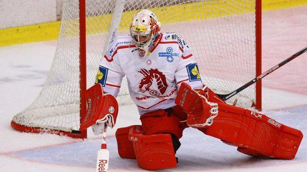 Brankář hokejistů Třince Peter Hamerlík.