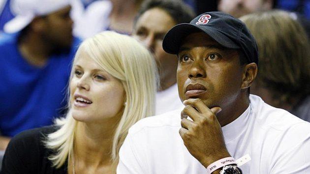 Tiger Woods a jeho bývalá žena Elin Nordegrenová.