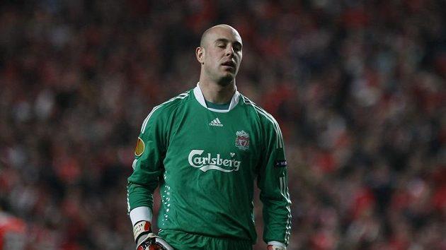 Brankář Liverpoolu Pepe Reina.