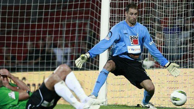Jablonecký gólman Michal Špit se stou nulu čeká dál.