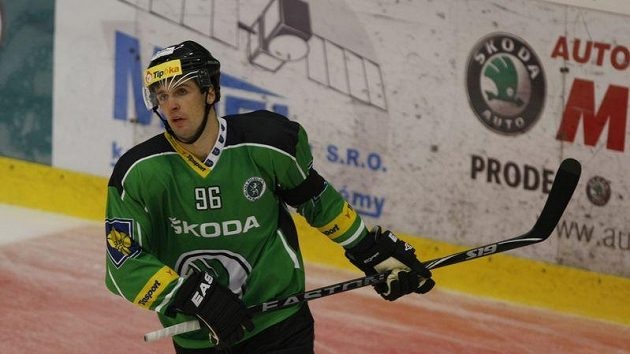 Útočník hokejistů Mladé Boleslavi Jaroslav Balaštík