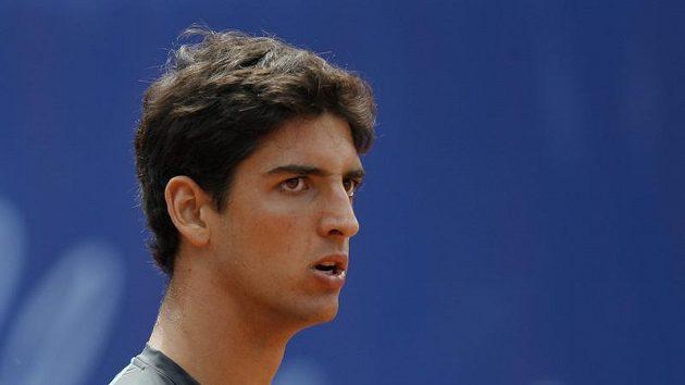 Brazilský tenista Thomaz Bellucci během finále turnaje v Gstaadu.
