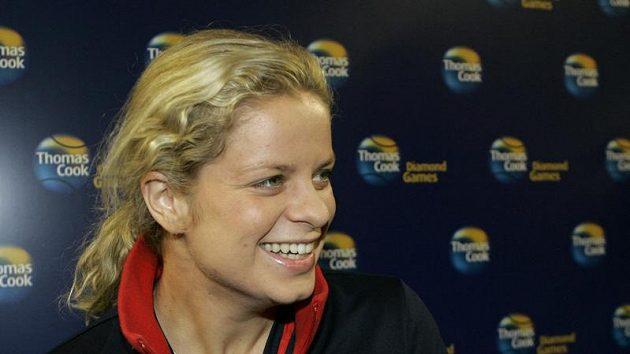 Belgická tenistka Kim Clijstersová na tiskové konferenci
