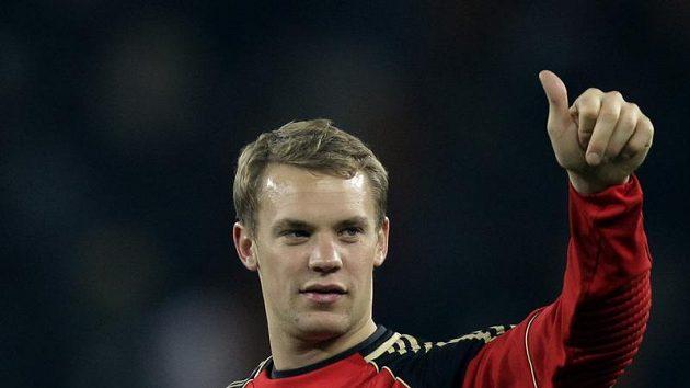 Brankář Manuel Neuer v národním dresu.