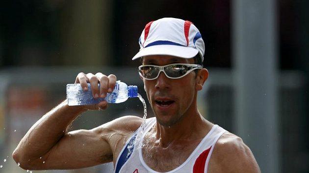 Francouz Yohann Diniz, evropský šampión v chůzi na 50 km.