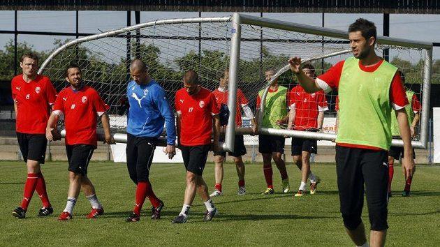 Fotbalisté Plzně na tréninku