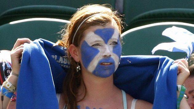 Fanynka skotského tenisty Andyho Murrayho