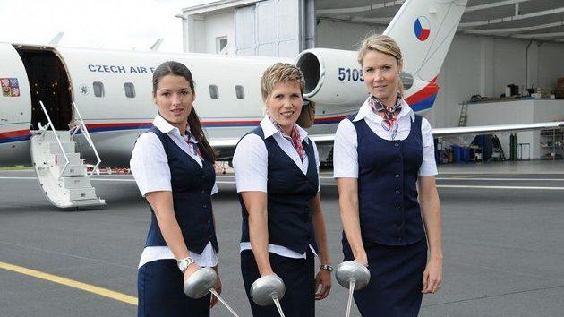 Moderní pětibojařky (zleva) Natálie Dianová, Sylva Černá a Lucie Grolichová