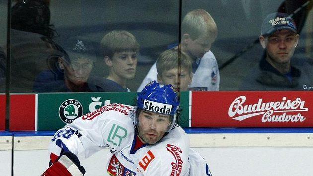 Jaromír Jágr v utkání proti Bělorusku