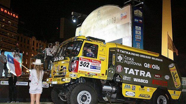 Aleš Loprais na startu jihoamerického Dakaru