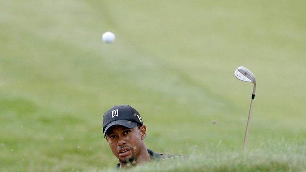 Tiger Woods při tréninku ve Whistling Straits.