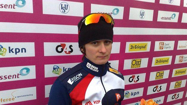 Martina Sáblíková po závodu na 3 km na evropském šampionátu ve víceboji v italském Collalbu.