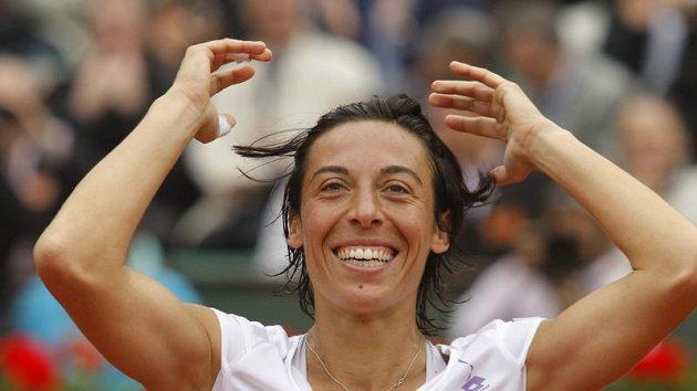 Italská tenistka Francesca Schiavoneová.