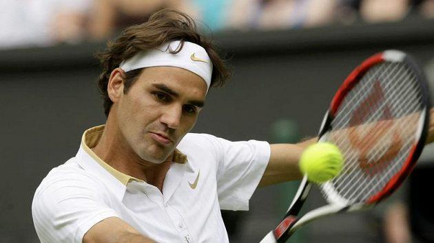 Švýcarský tenista Roger Federer během prvního kola Wimbledonu