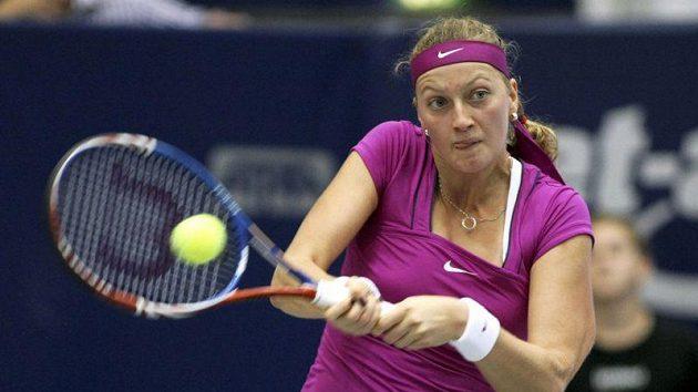 Tenistka Petra Kvitová během semifinále v Linci.