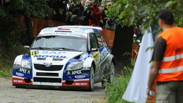 Roman Kresta během Barum Czech Rally - ilustrační foto.