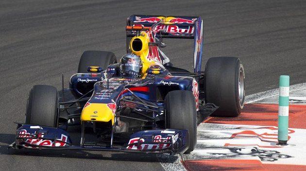 Sebastian Vettel si v kvalifikaci na GP Abú Zabí vyjel pole position.