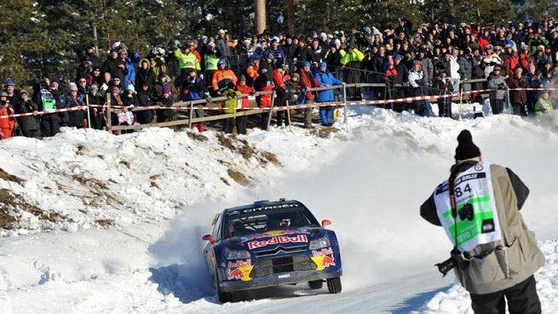 Kimi Räikkönen během Švédské rallye.