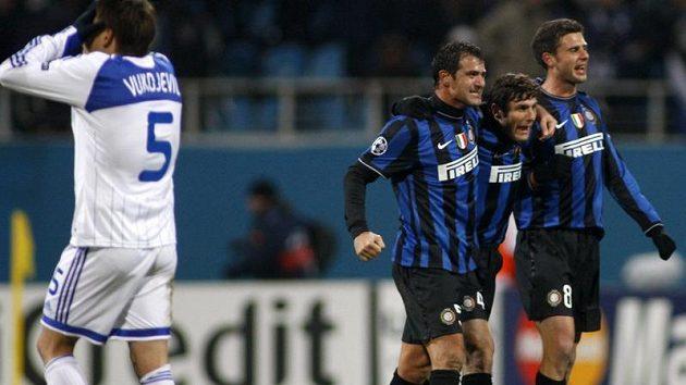 Radost fotbalistů Inter Milán