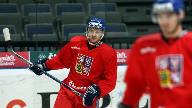 Jan Marek na tréninku reprezentace
