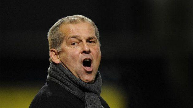Trenér fotbalistů Liberce Petr Rada se na své svěřence moc zlobil, ale nepomohlo to.