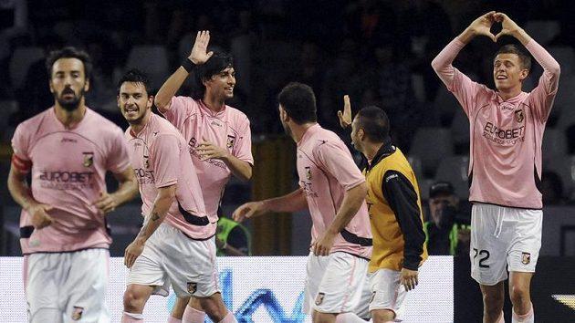 Radost fotbalistů Palerma