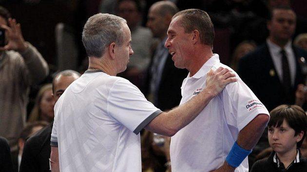 John McEnroe a Ivan Lendl se v exhibičním zápase utkají v londýnské Royal Albert Hall.